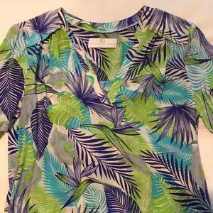 Amanda Uprichard silk blouse/tunic tropical print